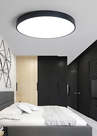 Lampada Da Soffitto Design Moderno Ultrasottile Rotondo Bianco