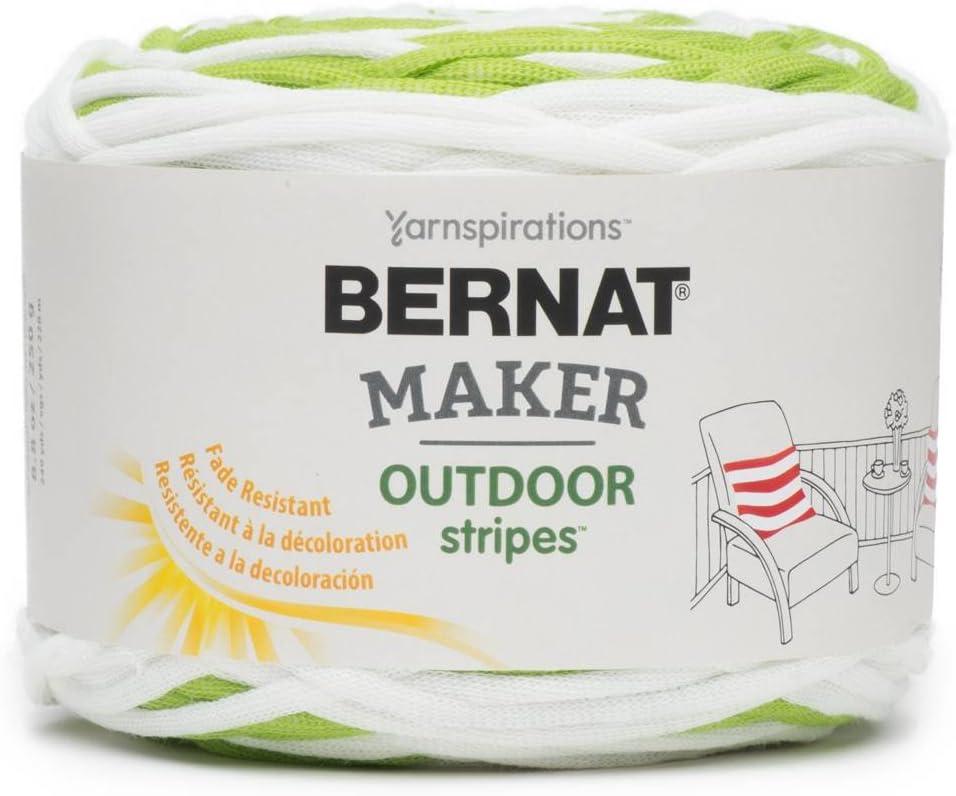 BERNAT Maker Outdoor Stripes -250g- Fresh Citrus Stripe