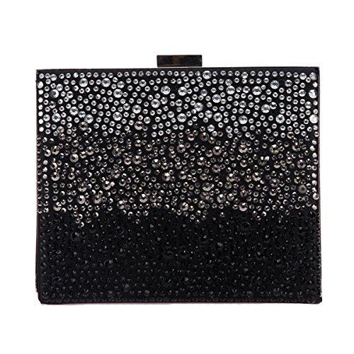Bonjanvye Fashion Diamonds Purses and Handbags for Women Evening Bags Clutch Black