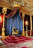 OFILA Palace King's Throne Backdrop 5x7ft Candles Curtain Carpet Ceiling Building Tourism School Drama Background Children Fairytale Theme Birthday Party Decoration Princess Portraits Video Props
