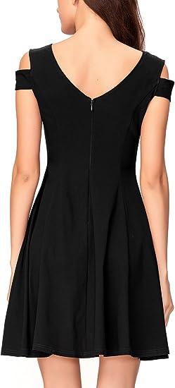 Women's Cold Shoulder Little Cocktail Party Dress