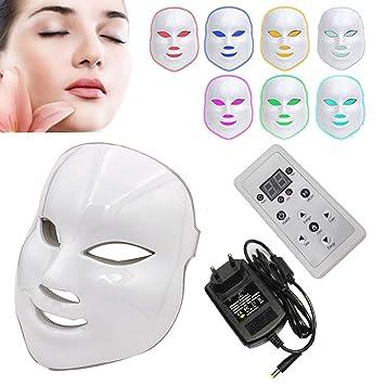 réel classé dernière sélection vaste sélection NBD® 7 Couleur LED Masque luminothérapie LED Masque Photon avec, Beaut du  visage Soins de rajeunissement de la peau Photothérapie Traitement Masque