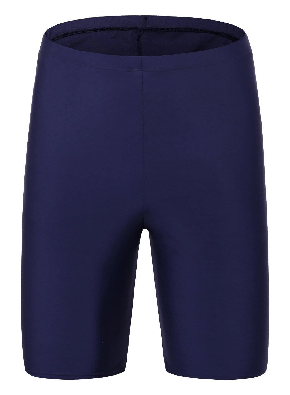 Avellara Womens swim shorts Long Bike swim shorts Long Solid shorts Long Boardshorts swim shorts