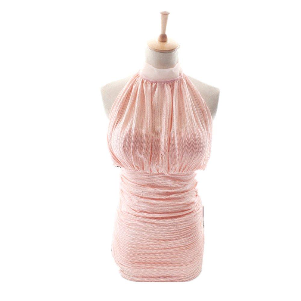 女性の 水着 Ms. 集まる ワンピースドレス に適して 水泳 ウェディング エクササイズ スパ B07F1BKJ4J L|ピンク
