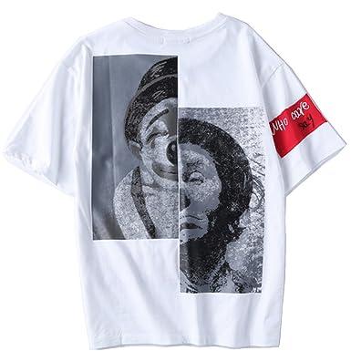 バックプリント ピエロ tシャツ Tシャツ 半袖 おしゃれ お揃い 白 メンズ 新品 ブランド(