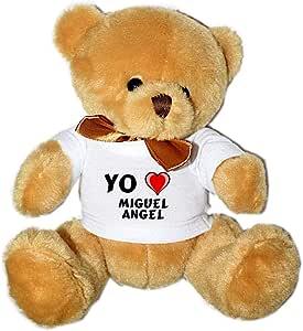 Shopzeus Oso de Peluche con Amo Miguel Angel en la