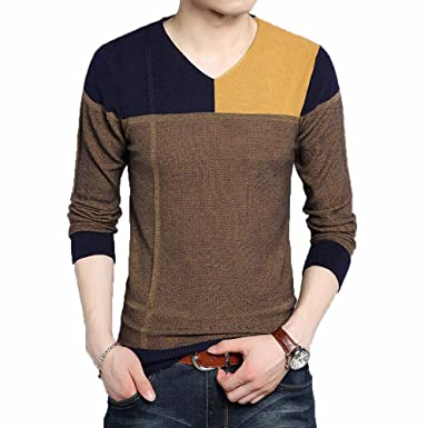 Pullover Patchwork Men Sweater Dress Jersey Knitted Sweaters Mens ...