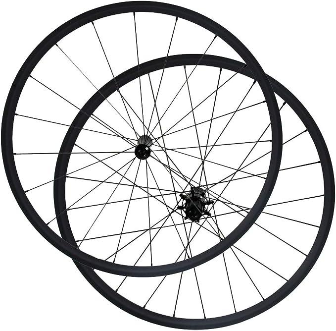 CSCbike Juego de Ruedas para Bicicleta de Carretera, sin Tubo ...