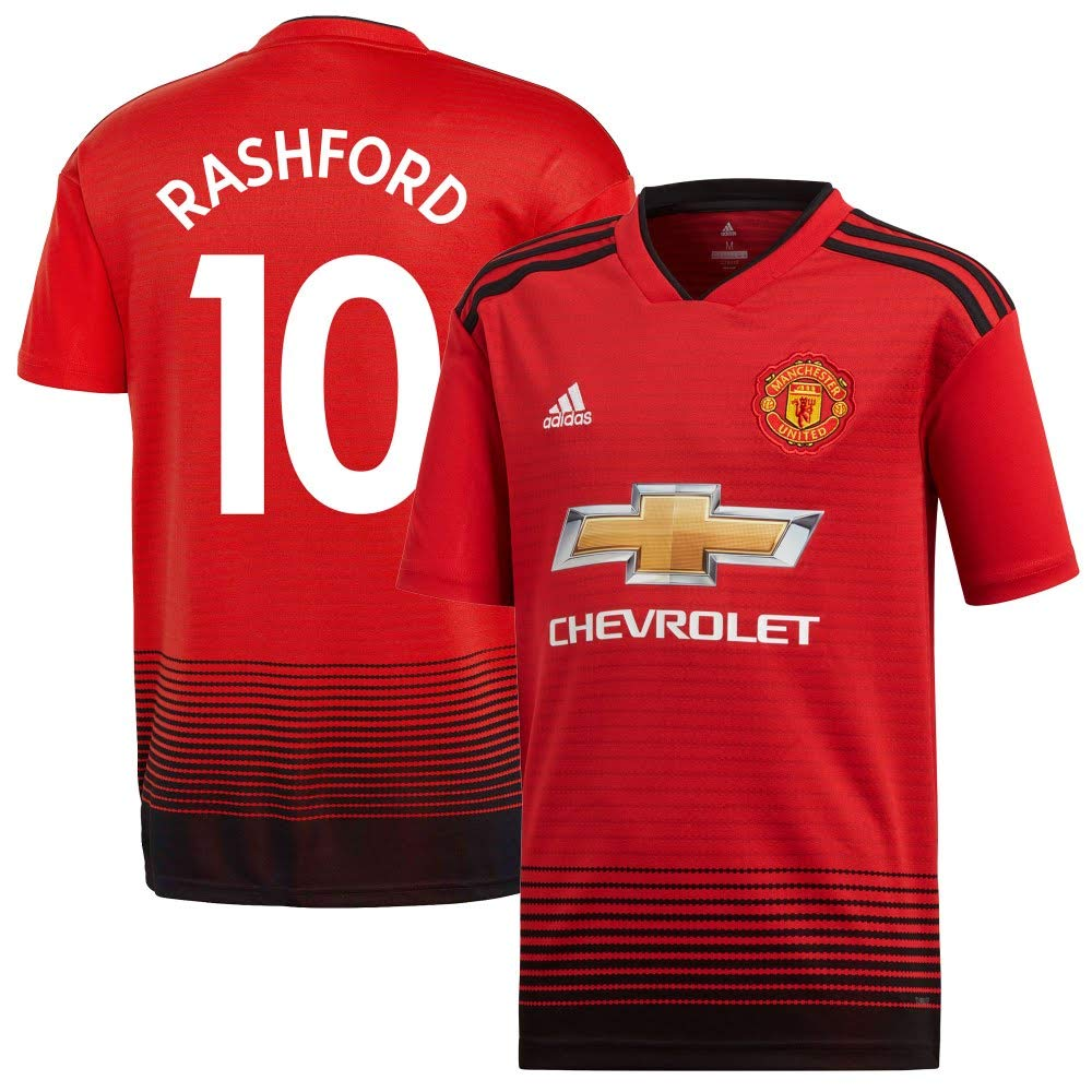 Man Utd Home Trikot Boys 2018 2019 + Rashford 10 (Fan Style)
