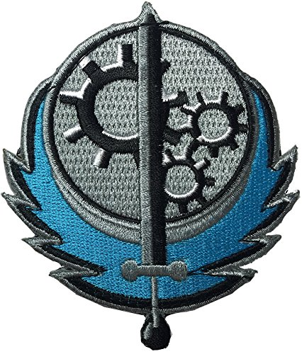 Patch Squad Men's Fallout Style Brotherhood of Steel BOS Embroidered Patch (Dark - Men Fall Style