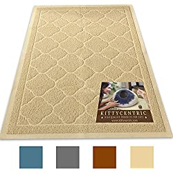 Kittycentric Jumbo Cat Litter Mat with Scatter Control (Creamy Beige)