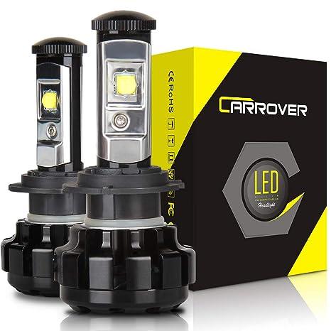H7 CREE LED Bombilla para Coche/Moto, 9600LM Faros Delanteros Bombillas, Reemplazo de