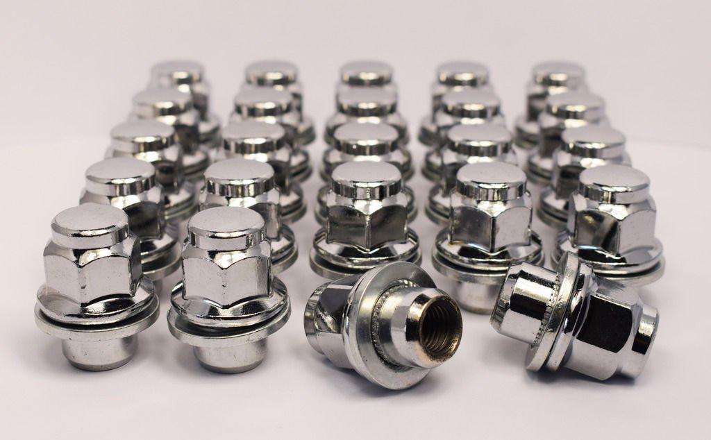 Set de 24 aleació n rueda tuercas M12 x 1,5 rosca, soporte de asiento, 21 mm hexagonal para Toyota 5rosca 21mm hexagonal para Toyota Bimecc