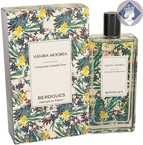 Berdoues Vanira Moorea Collection Grands Cru Eau de Parfum for Women, 3.38 Fluid Ounce
