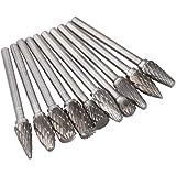 Rebabas de metal duro - SODIAL(R) 10 x Rebabas fresas de metal duro for broca de taladro rotatorio de tallar
