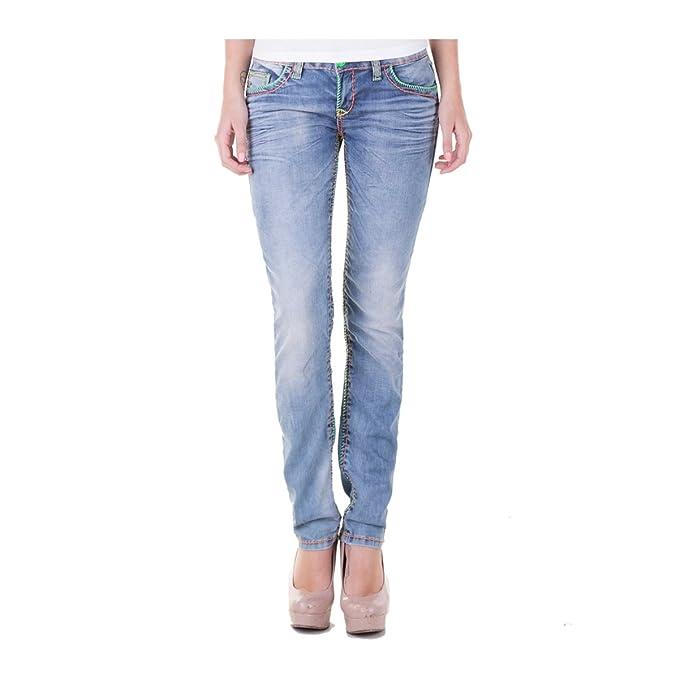 Cipo & Baxx Mujer Jeans C445 Denim Azul Vaquero azul claro ...
