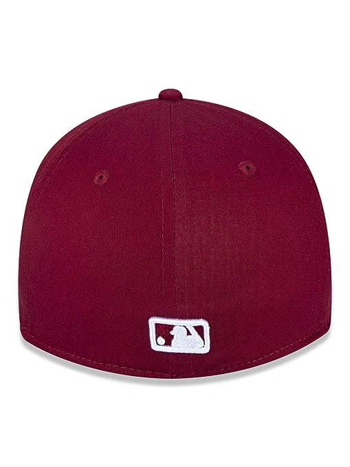 eae5371c5 BONE 3930 LOS ANGELES DODGERS MLB ABA CURVA VERMELHO ESCURO NEW ERA   Amazon.com.br  Amazon Moda