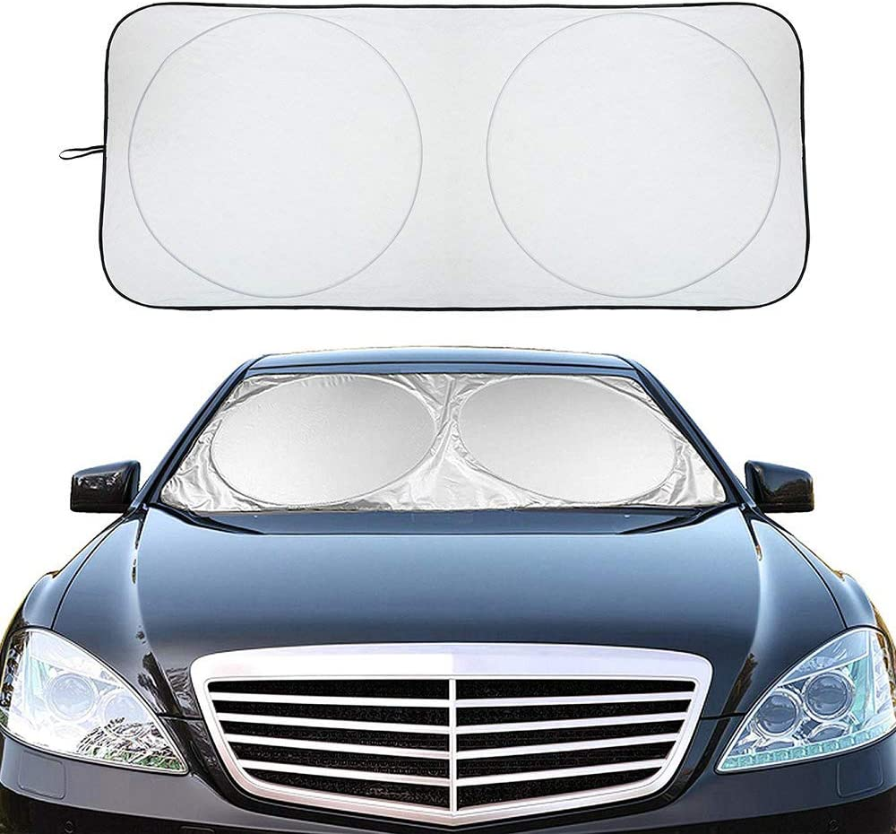 Car Window Shade to Keep Vehicle Cool Auto Universal Car Sunshade 71 x 37 Block UV Rays Sun Visor Protector Car Shade XBRN Car Windshield Sun Shade