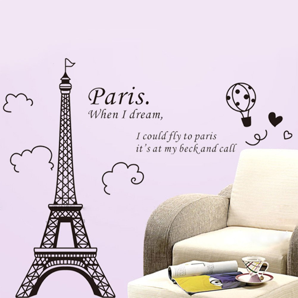 1 x eiffel tower diy removable art vinyl wall sticker decor mural 1 x eiffel tower diy removable art vinyl wall sticker decor mural decal amazon amipublicfo Images