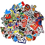 100PCS Stickers Decals Vinyls for Laptop Kids Cars Motorcycle Bicycle Skateboard Luggage Bumper Stickers Hippie Decals bomb Waterproof(Not Random)
