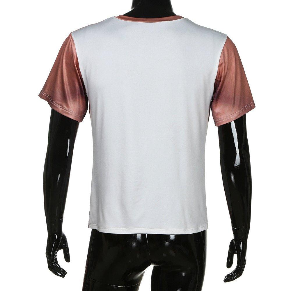 Fxbar,Men/'s Muscle 3D Printed Tee Shirt Casual Short-Sleeve Mens T Shirt
