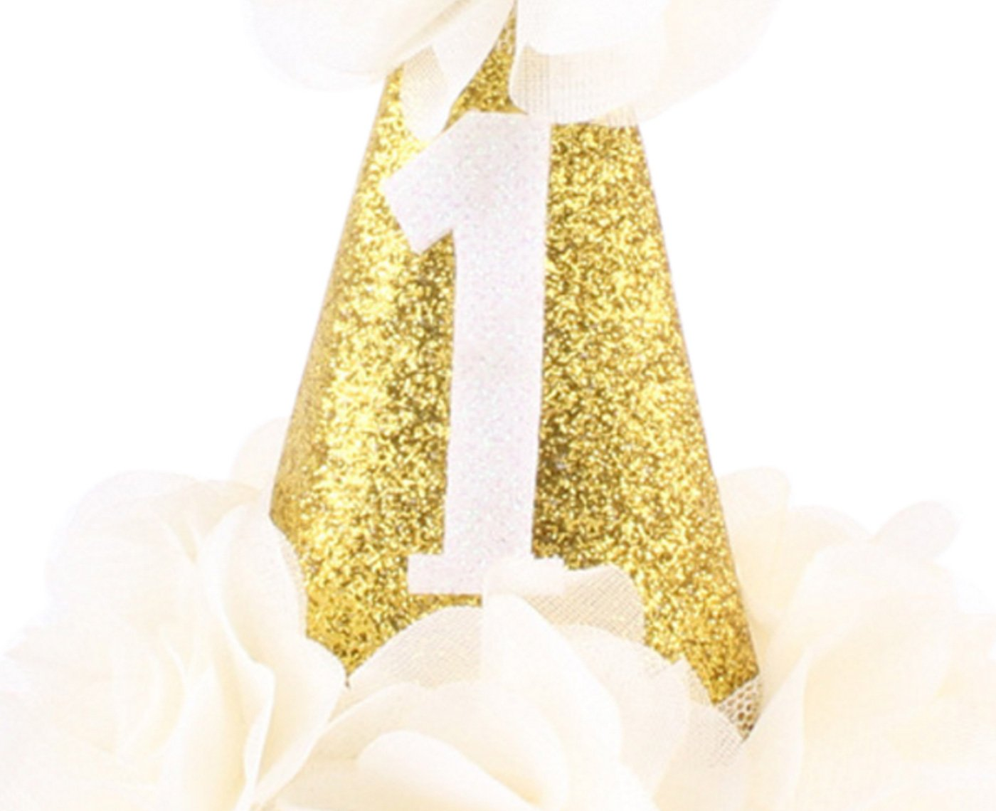 Infant Baby 1st Birthday Headband Sparkling Wedding Party Bridal Crown Delicate Prom Tiara Hair Accessories Ornaments with Golden Headband Beige