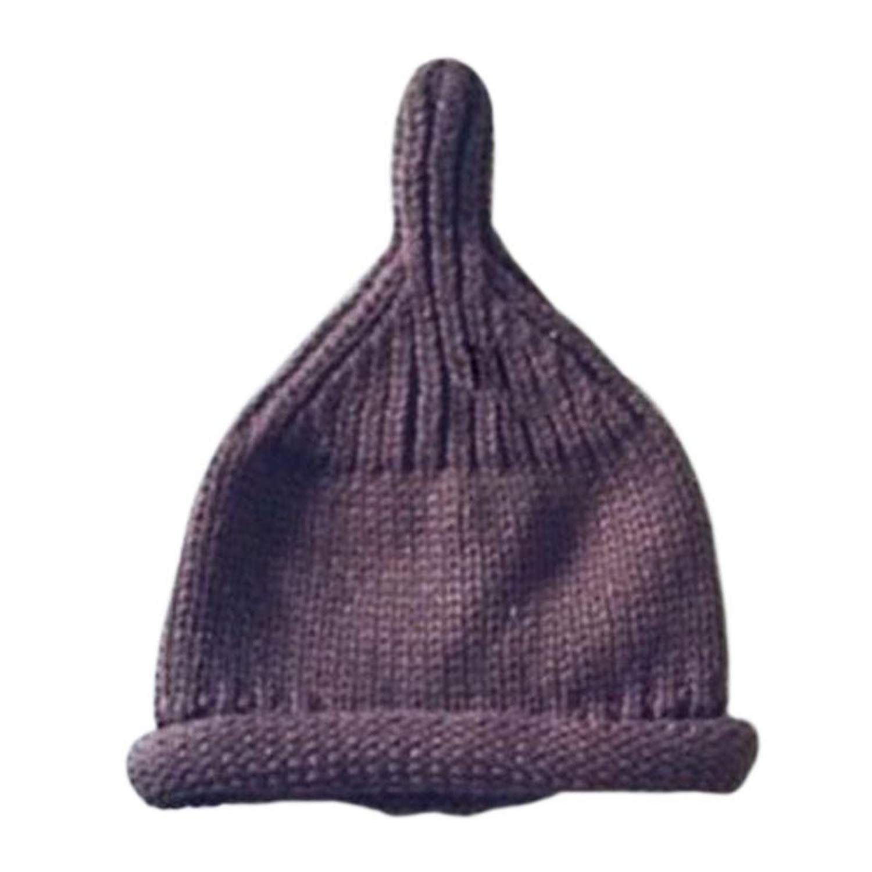Feisette Korea Trendy Winter Hat Lovely Knitted Hat Striped Pompom Cap Bonnet Parent-Child Cap Accessories