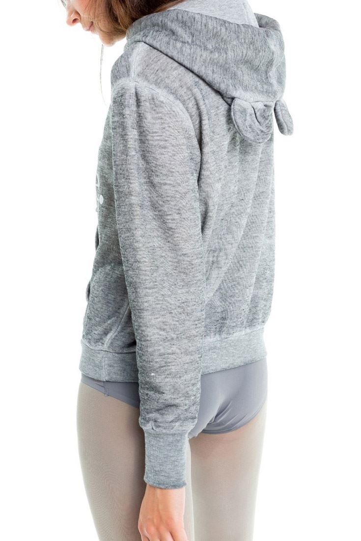 Wildfox I'm A Mouse Cuddles Mouse Hoodie - Heather - XS by Wildfox (Image #4)