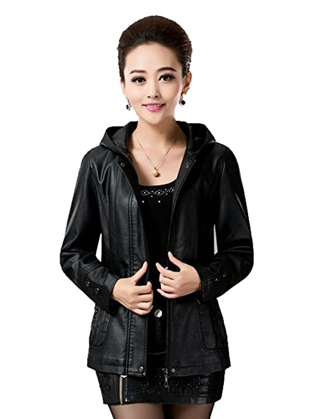 2ad6b8dc8 HugMe.fashion Ladies Short Leather Jacket Slim Fit New Sexy Leather ...
