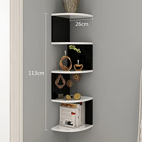Shelves AA Pareti attrezzate Librerie bianche a muro, rack a muro ...