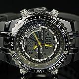 New Luxury INFANTRY Mens Sport Quartz Army Chronograph Digital Black Wrist Watch