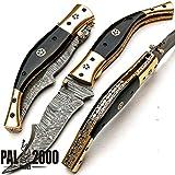 Custom Handmade Damascus Steel Hunting Folding Pocket Knife -Sword/Chef Kitchen Knife/Dagger/Full Tang/Skinner/Axe/Billet/Cleaver/Bar/Bowie/Kukri/knife accessories/survival/Camping With Sheath 8735