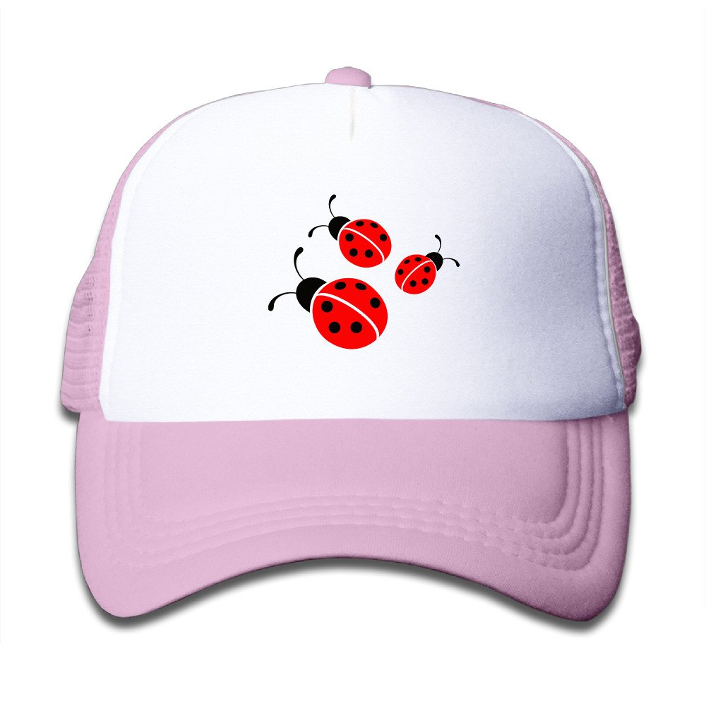 Cute Funny Three Ladybugs Boys Girls Mesh Cap Trucker Caps Hat Adjustable Black