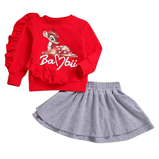 puseky - Falda - para niña Red+Grey 3-4 Años: Amazon.es: Ropa y ...