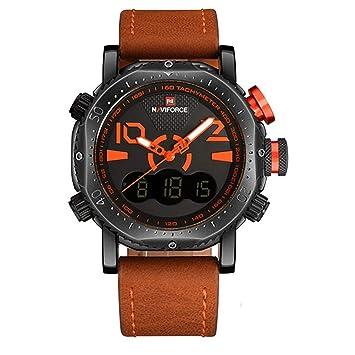 YSCYLY Hombres Relojes Deportivos Reloj De Pantalla Dual Hombres LED Relojes Analógicos Digitales De Cuarzo Electrónicos 30M Reloj Masculino Impermeable ...