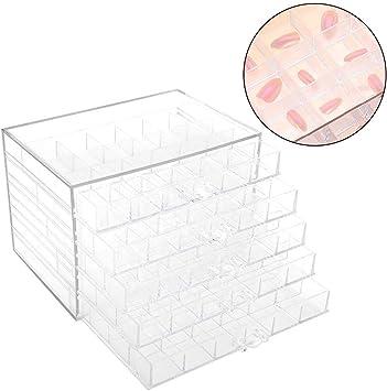 Caja de almacenamiento de decoración de clavos, 120 cuadrículas ...