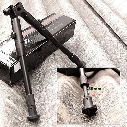 Picatinny Adjustable Spring Return Sniper Hunting Rifle Bipod Metal Mount SWAT