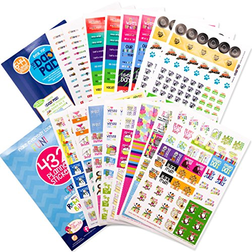 Planner Stickers Variety Bundle Set (Qty 1070+) for Mom, Dad, Holidays, Birthdays, Home, Work, Family, School, Church, Bills, Appointments, Party, Date Night, Seasons, To-Do, Reminders for any Planner
