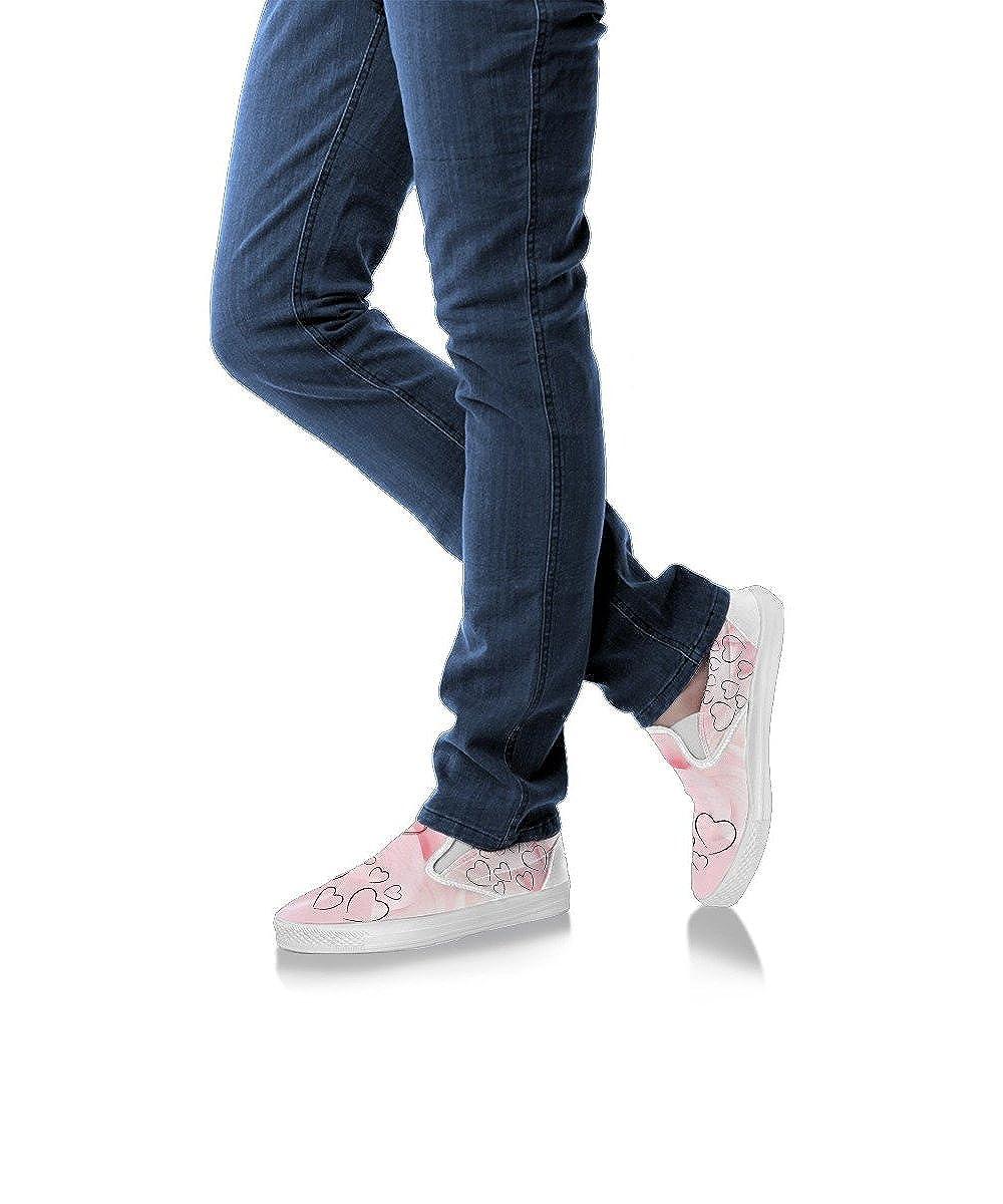 E/&E Solutions Heart Print Slip Ons Shoes for Women for Heart Lovers
