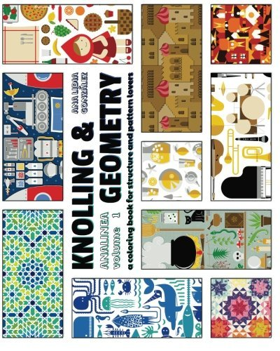 Knolling & Geometry: a coloring book for structure and pattern lovers (ANALINEA) (Volume 1)