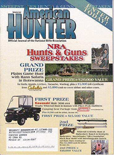 American Hunter January 2002 NRA Hunts & Guns Sweepstakes