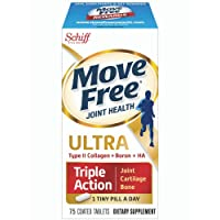 Move Free Type II Collagen, Boron & HA Ultra Triple Action Tablets, Move Free (75 Count in A Bottle) 1 ea