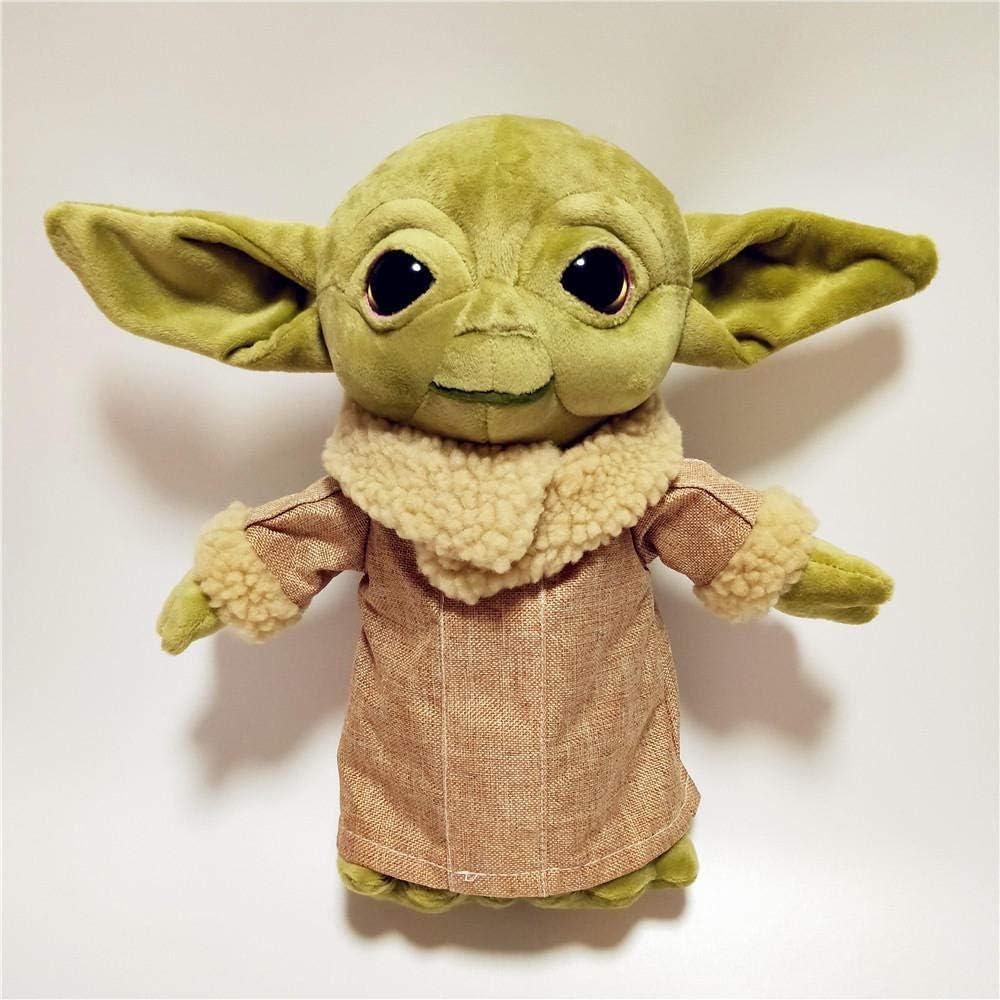 stogiit 30Cm Baby Yoda Plush Doll ToySoft Animals Anime Yoda Baby Stuffed Doll Doll Juguetes para Niños Niños Regalos De Cumpleaños De Navidad