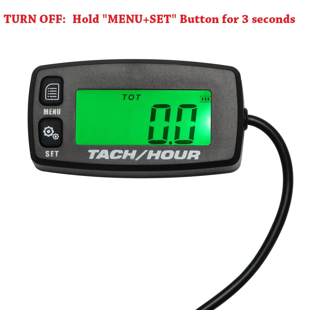 Amazon.com: Retroiluminado Tach mantenimiento RPM Hour Meter ...