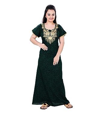 f657cc7a07 MAHAARANI Women s Cotton Nightwear (VEER425