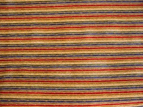 318H6 - Ruby / Sapphire / Emerald Jewel Tone Southwest Chenille Stripe Designer Upholstery Drapery Fabric - By the Yard Jewel Tone Stripes
