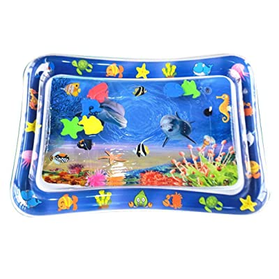 Yionloe Baby Water Mat Kids PVC Inflatable Game Play Pad Baby Floats: Toys & Games