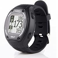 Montre POSMA GT1 à GPS intégré et calcul de distances , circuits de golf pré chargés sans téléchargements et sans abonnement, noir