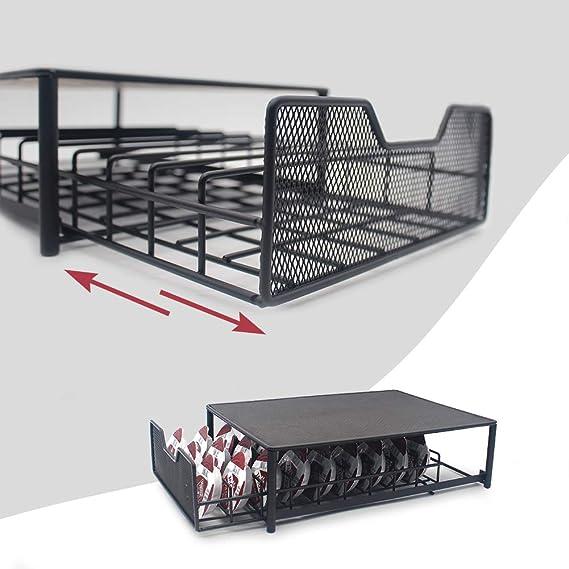 pour voyage de bureau grande capacit/é 54 capsules support de capsule de caf/é en fer Chrome Tiroir de rangement /à caf/é