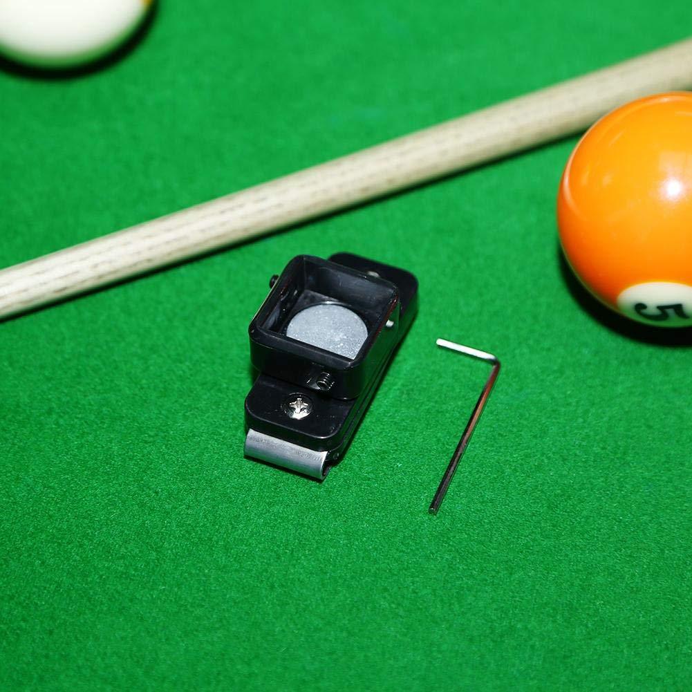 Snooker Billiard Pool Pocket Cue Chalk Holder PVC Leather Hooks Over Your Belt